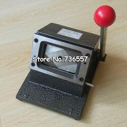ماكينة تقطيع بطاقات العمل اليدوية حسب الطلب حجم القطع الزاوية المستديرة مكتب الالكترونيات مشذب الورق