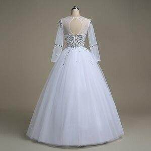 Image 3 - QQ Liebhaber Illusion Perlen Ballkleid Hochzeit Kleid 2020 Hochzeit Kleider