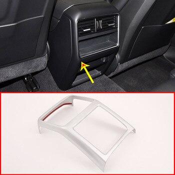 For Porsche Cayenne 2018 2019 Car Interior ABS Matt Rear Row Air Conditioning Vent Frame Trim Accessories