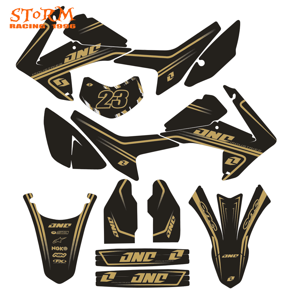 Decals Graphics With Matching Backgounds Customize Stickers Kits For HONDA CRF CRF250L 2013-2014 13 14 Motorcycle Dirt Bike цена