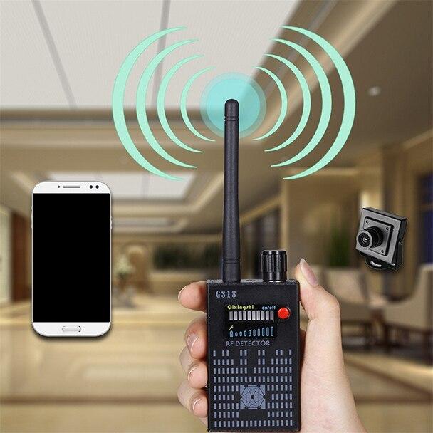 GPS Haute-vitesse 1 MHz-8000 MHz détection Portable Anti-Espion sans fil Amplification Détecteur Caché Détecteur de Signal