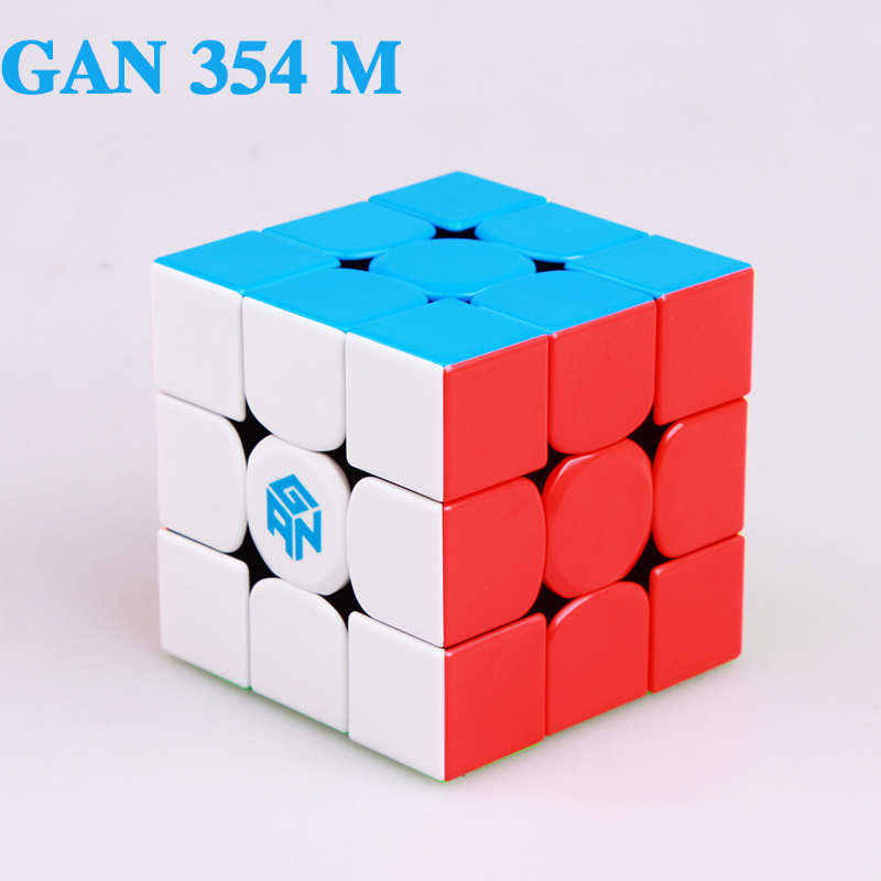 GAN 354 M 3x3 Magnets Puzzle Magic Cube GAN354M Professional Speed Gans Cubes GAN 354M Magnetic Cubo Magico Toys For Children