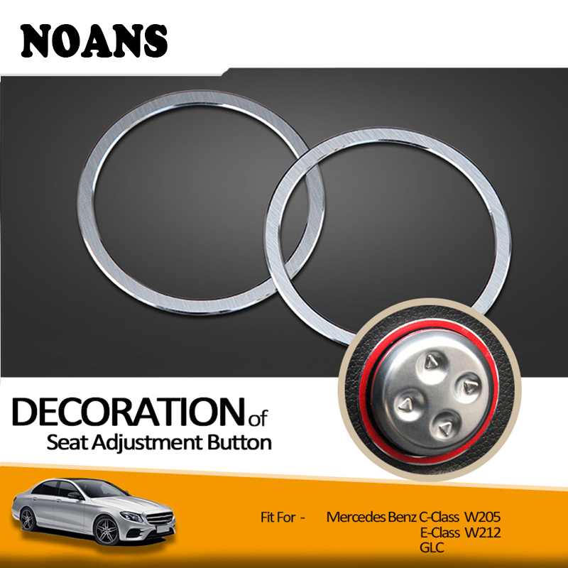 NOANS Car Styling Seat Adjust Button Frame Decorative Stickers For Mercedes Benz W205 W213 C E Class GLC GLK CLS Accessories image