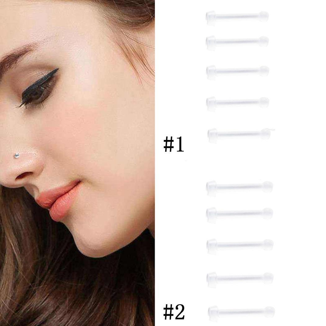 0mm Nose Stick Women New 0 Soft 8mm Sticks Unisex 5Pcs Rod Nose Men Invisible None Transparent 1 Pack Straight Casual