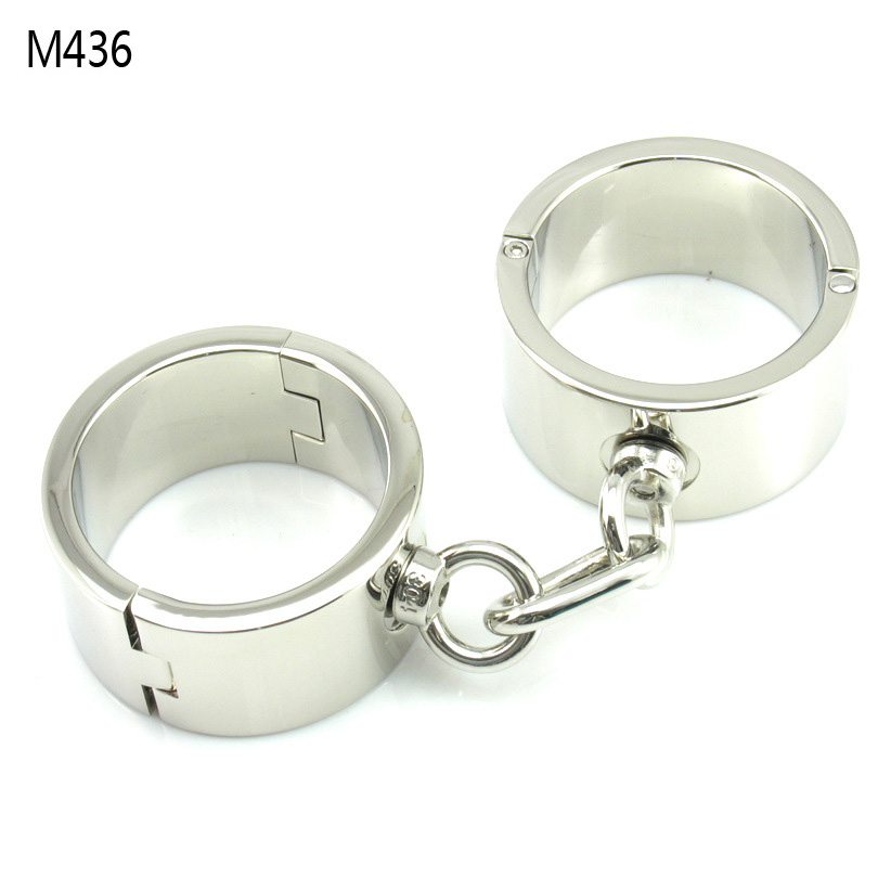 Metal Bondage Heavy Handcuffs Male Hand Cuffs Wrist Restraints Erotic Toys Sex Torture Products For Adults Slave Bdsm Tools stainless steel metal hand cuffs bdsm fetish wear bondage restraints handcuffs for sex erotic toys adult game sex toys for women