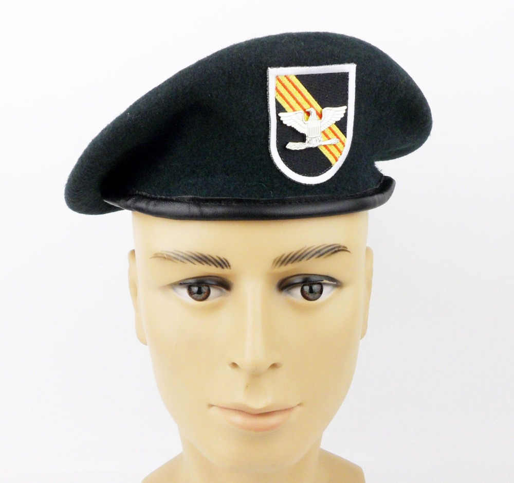 US Army Special Forces Green Beret Hat Cap Wool IN Size & US Colonel Rank  Badge World military Store