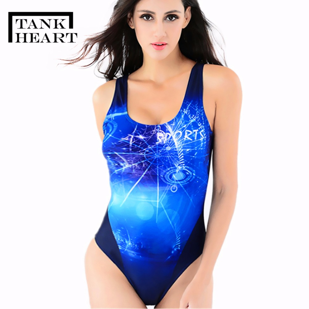 Tank Heart Flaming Professional Sport One Piece Swimsuit Women biquini Backless Bodysuit Grils Swimwear Women Bathing Swim Suit ...
