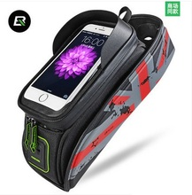 ROCKBROS Bicycle Bag MTB Road Rainproof Touch Screen Cycling Front Tube Frame Bike Bags 5.8/6.0 Phone Case Accessories
