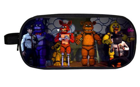 New Cartoon Pencil Case Bag Five Nights At Freddy Boys Girls School Pouches Children Student Pen Bag Kids Purse Wallet Gifts new arrival five nights at freddy s fnaf action figures toys bonnie foxy freddy fazbear bear pvc figure dolls toys for children