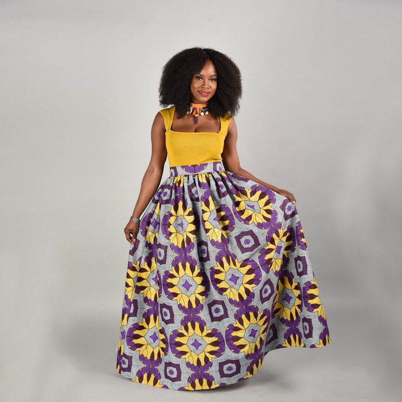 African Women Clothing Rushed Hot Sale Polyester 2018 National Wind Digital Printing Ele ...