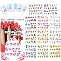 2015 BeautyNailArt 90 Hoja/lot Hermosas Flores Nail Art Calcomanías de Agua agua Pegatina de uñas de arte de uñas accesorios