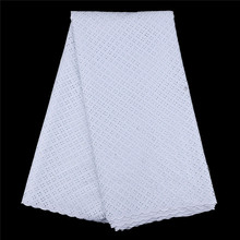 2017 High Quality African dry Lace Fabrics cotton swiss lace fabric wholesale African material in white color
