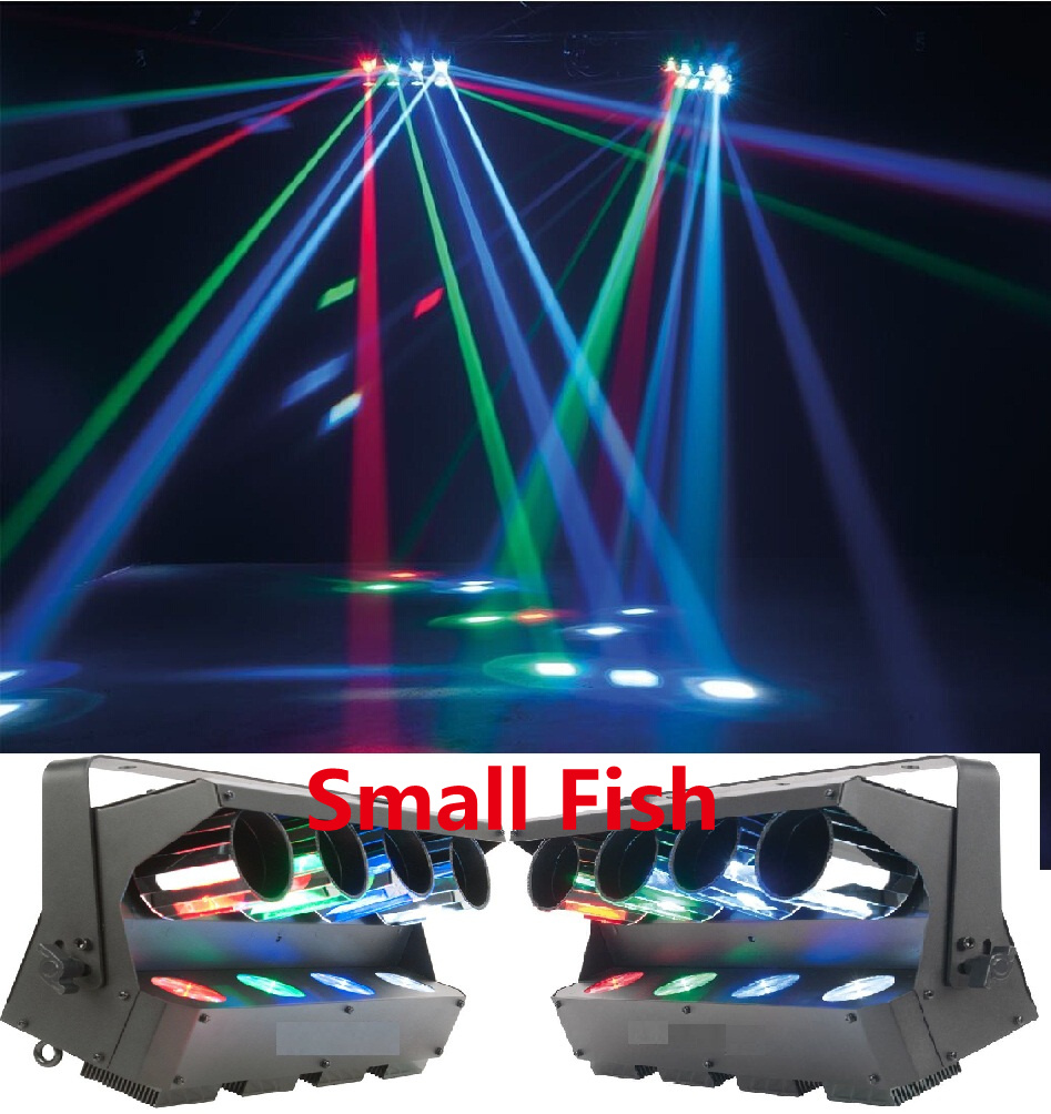 2XLOT Free Shipping 2015 ADJ ZIPPER 4 head Barrel Mirrored Scanner 4x8W 4in1 RGBW Beam Strobe Laser Projector Stage Party Lights