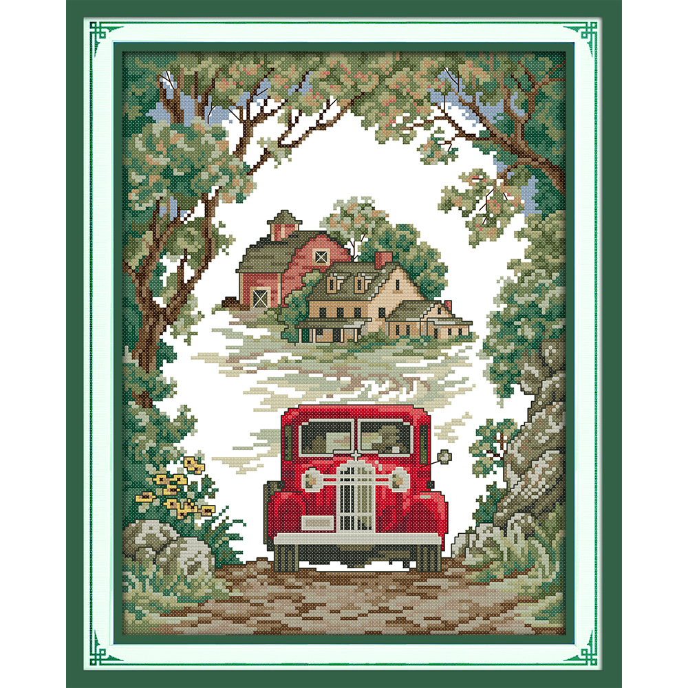 Everlasting love Forest responders Chinese cross stitch kits Ecological cotton stamped 11 CT Christmas decorations for home gift