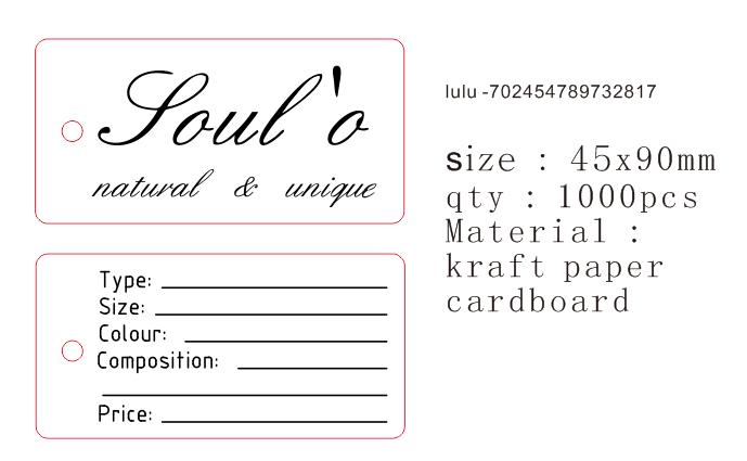 1000 шт. 90*45 мм retangular формы подарок бирка обе стороны принт персонализированной одежды продукты украшения бирка