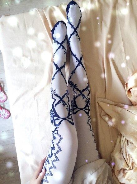 Princess sweet lolita thorns rose lovely knitting Decorative pattern pantyhose AL03
