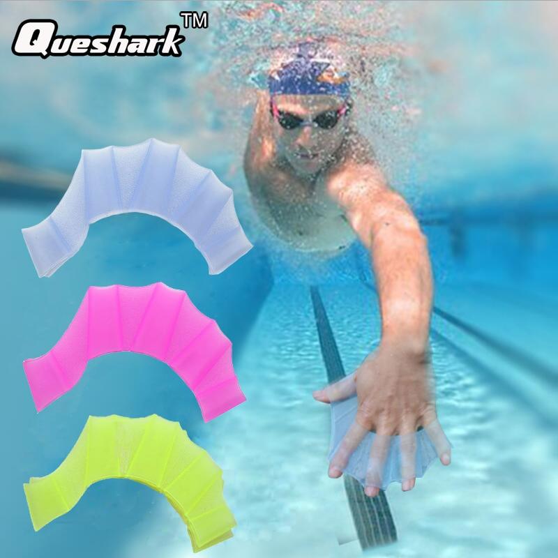 Men Women Child Half finger Silicone Swimming Fins Swim Pool Sports Training Hand Webbed Gloves Flippers Paddles Equipment