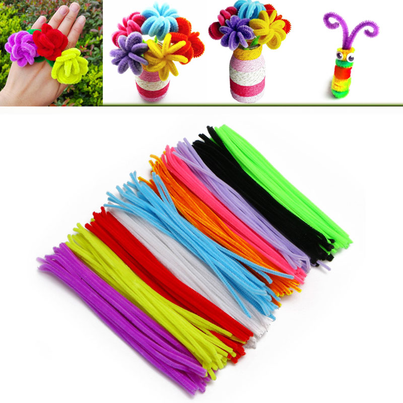 200pcs/Set DIY Handmade Educational Spin Rods Shilly Stick Plush Toys For Kid Craft cheerlink zm 81 3mm neodymium iron diy educational toys set silver 81 pcs