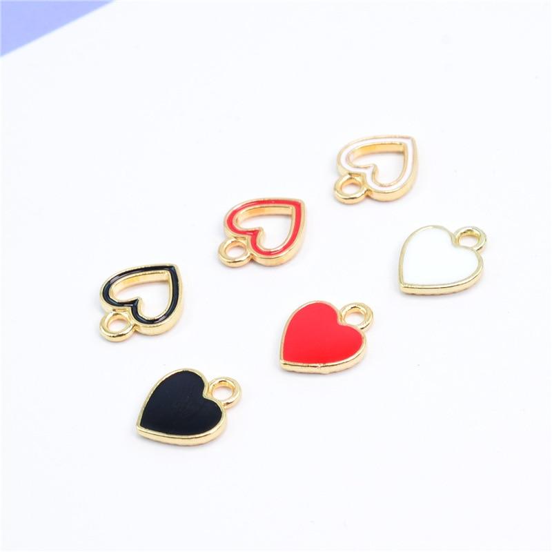 5pcs x Red Apple Enamel Gold Alloy CHARM Pendants DIY Jewellery Making Craft