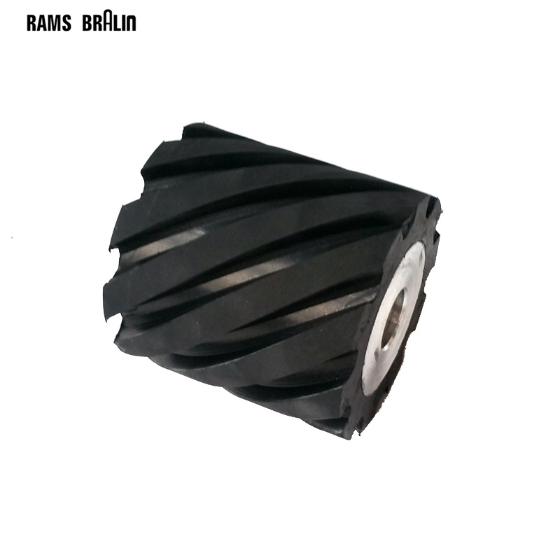 100*100mm Grooved Rubber Wheel Belt Grinder Part fsf 100