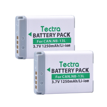 Tectra 2Pcs NB-13L NB13L NB 13L Li-ion Battery for Canon PowerShot G5 X G7 X G7 X Mark II G9 X SX720 HS Digital Digital camera
