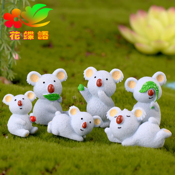 Micro landscape Resin Koala miniature figurines Emulation Cartoon Decoration Gift Accessories for Leisure Koala DIY Home Decor image