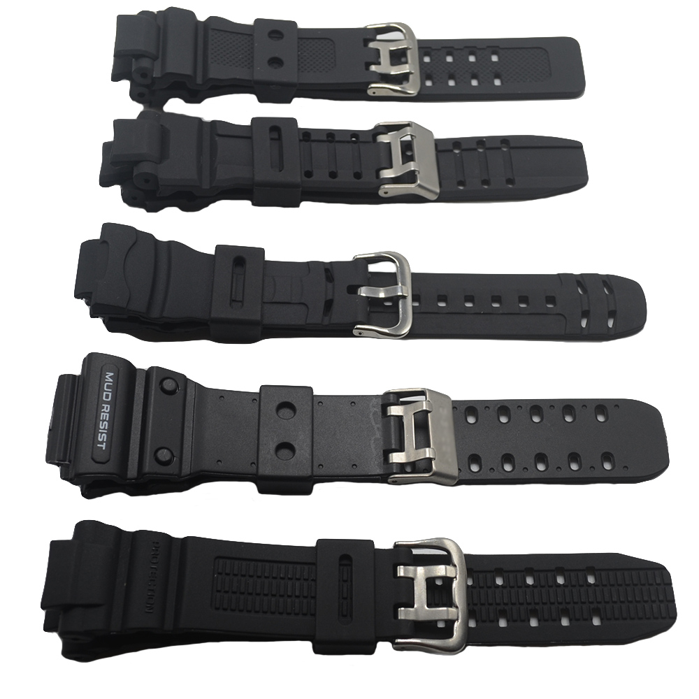 Carty Watchband Rubber Strap for Watches, Upscale Replacement Electronic Wristwatch Band Sports Watch Straps