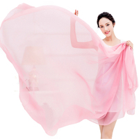 Oversize Solid Women Summer Scarf Spring Echarpe Long Voile Shawls Beach Cover Ups Head Wraps UV