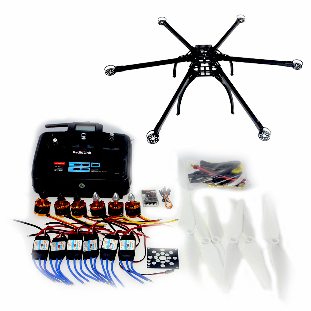 F10513-C QQ SUPER Control Board Version Six-axle Hexacopter Aircraft Unassembled Frame Kit 6CH TX&RX ESC Motor wire universal board computer board six lines 0040400256 0040400257 used disassemble