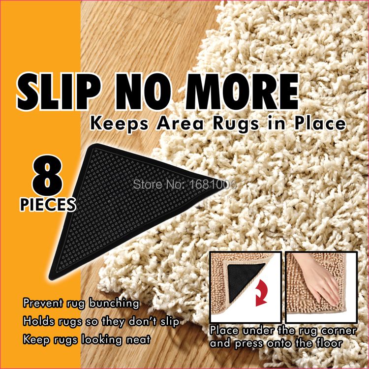 Aliexpress Com Hot 8 Pcs Non Slip Rug Grips Pu Mats Pad Reusable Washable Suction Grip Anti Skid Carpet Pads Lp001 From Reliable For Living