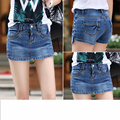 2017 2016 new ladies denim shorts pants women's spring and summer anti-emptied shorts