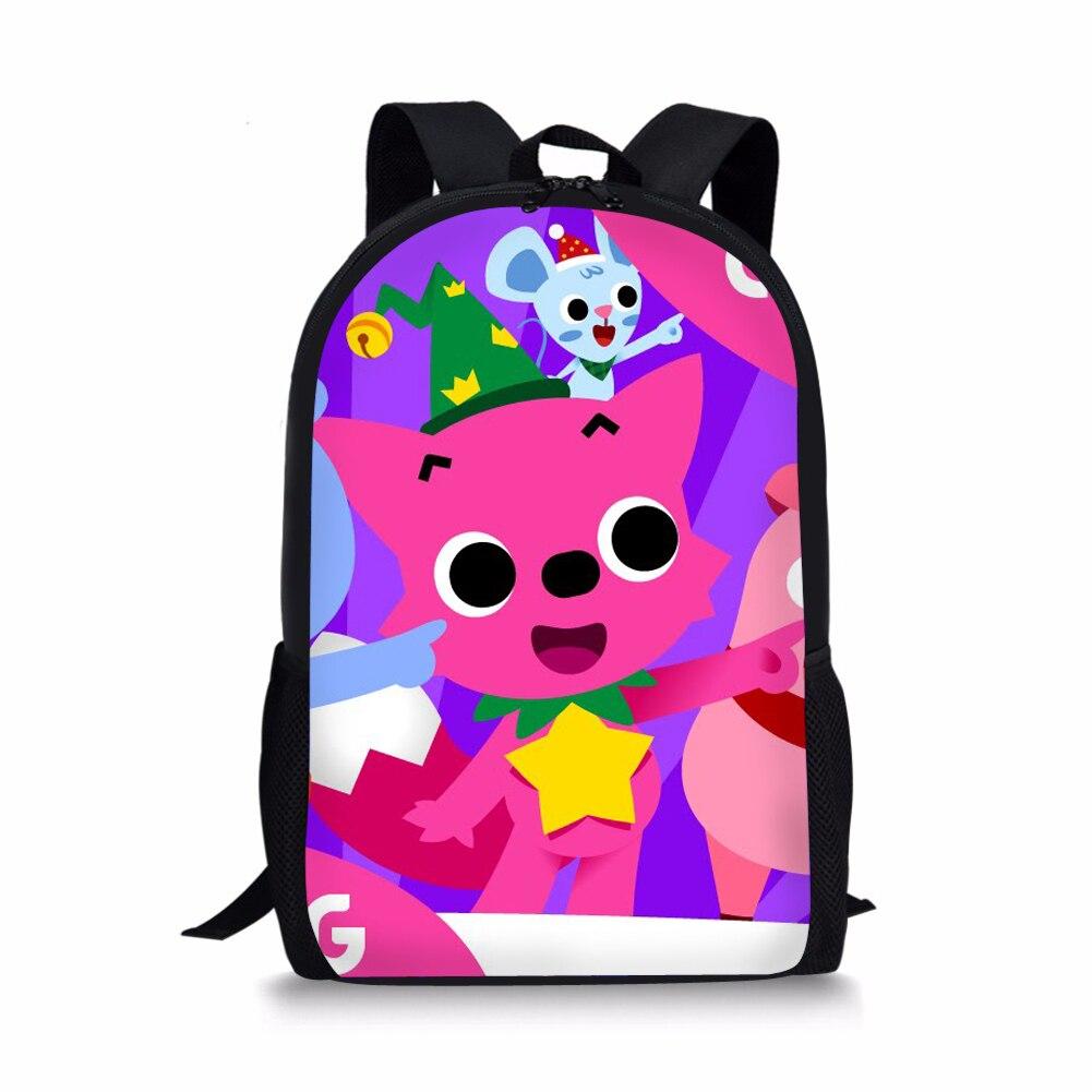 Мультфильм Pinkfong розовый школьные сумки для девочек детей 3d печать сумки книгу Back Pack для путешествий школьный рюкзак для ребенка дети ...