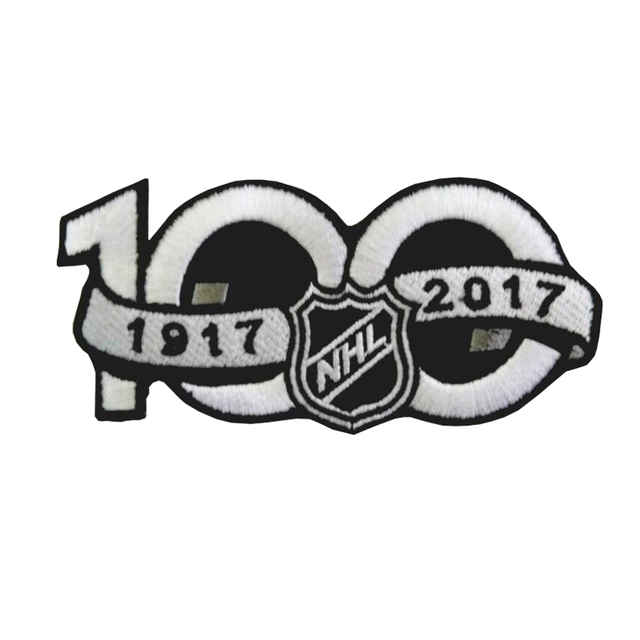 0a673da5d National Hockey League NHL 2017 Seaso Patch 100th Anniversary Jersey Sleeve  Logo Fabric Badge Garment DIY Apparel Accessories