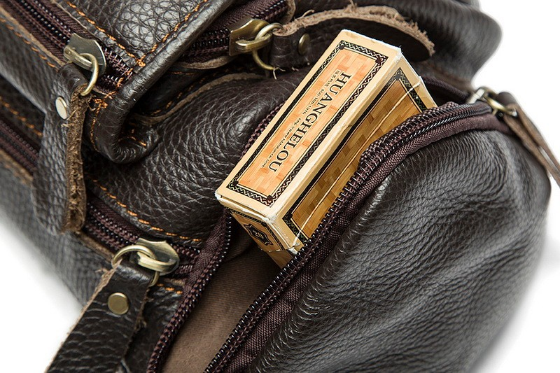 100% genuine leather waist bag men bags fanny pack first layer cowhide leather waist pack belt bag men genuine leather bags mini (11)