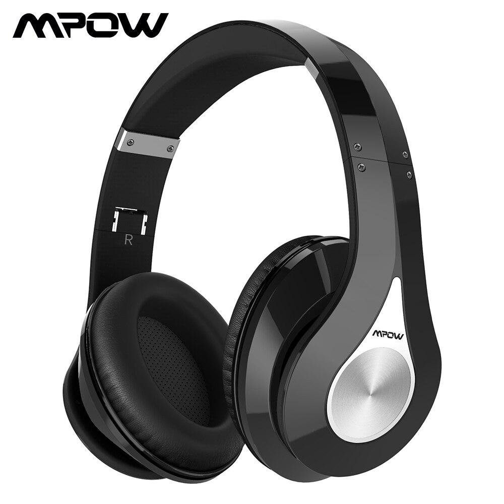 Mpow 059 Bluetooth наушники с шумоподавлением Беспроводные Стерео складные наушники эргономичный дизайнерские наушники Встроенный микрофон