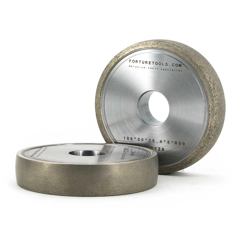 4 Inch Metal Bond Diamond Abrasive Wheel Of Round Edge For Glass,ceramic,gem Stone,optical Lens Grinding M013