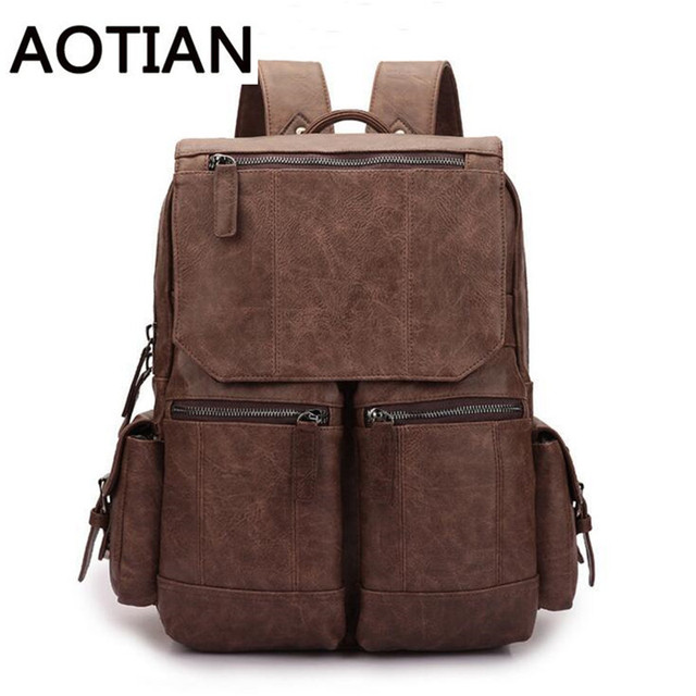 0338c133a Alta calidad caliente hombres mochila vintage Hombre bagpack viajes calle compras  mochila escolar pu equipaje de