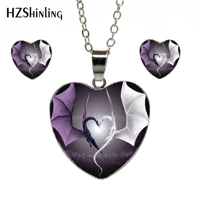 Hzshinling hes 010 couple heart dragon pendant necklace dragon heart hzshinling hes 010 couple heart dragon pendant necklace dragon heart jewelry sets art glass cabochon mozeypictures Gallery