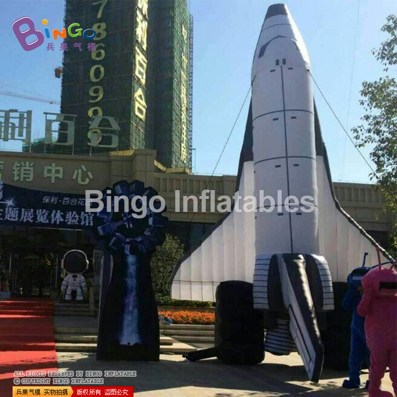 купить big inflatable plane replica display balloon model for events 8m or customize BG-A0695 flashing toy дешево
