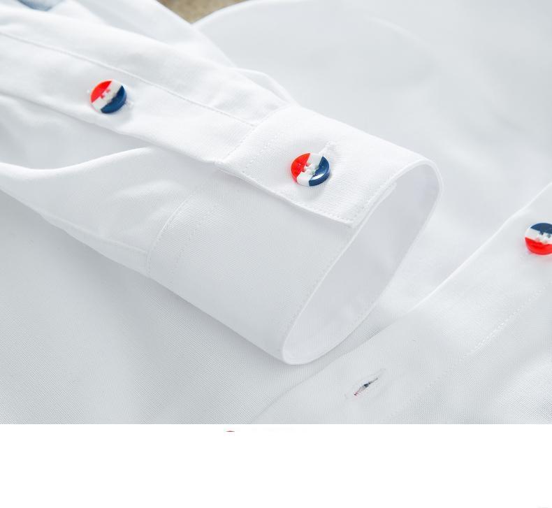 YAUAMDB men shirt 2017 autumn winter size M-4XL cotton male letter long sleeve shirt slim casual turn-down collar clothing y43 18