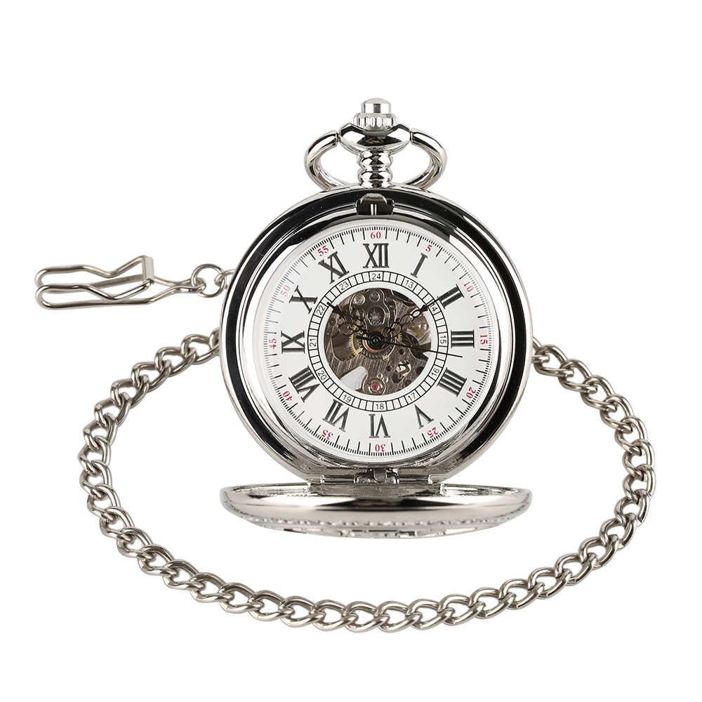 Полые колеса тема Механические карманные часы Прохладный Ретро Для мужчин Для женщин кулон Мини часы Классическая подарок на день рождения часы