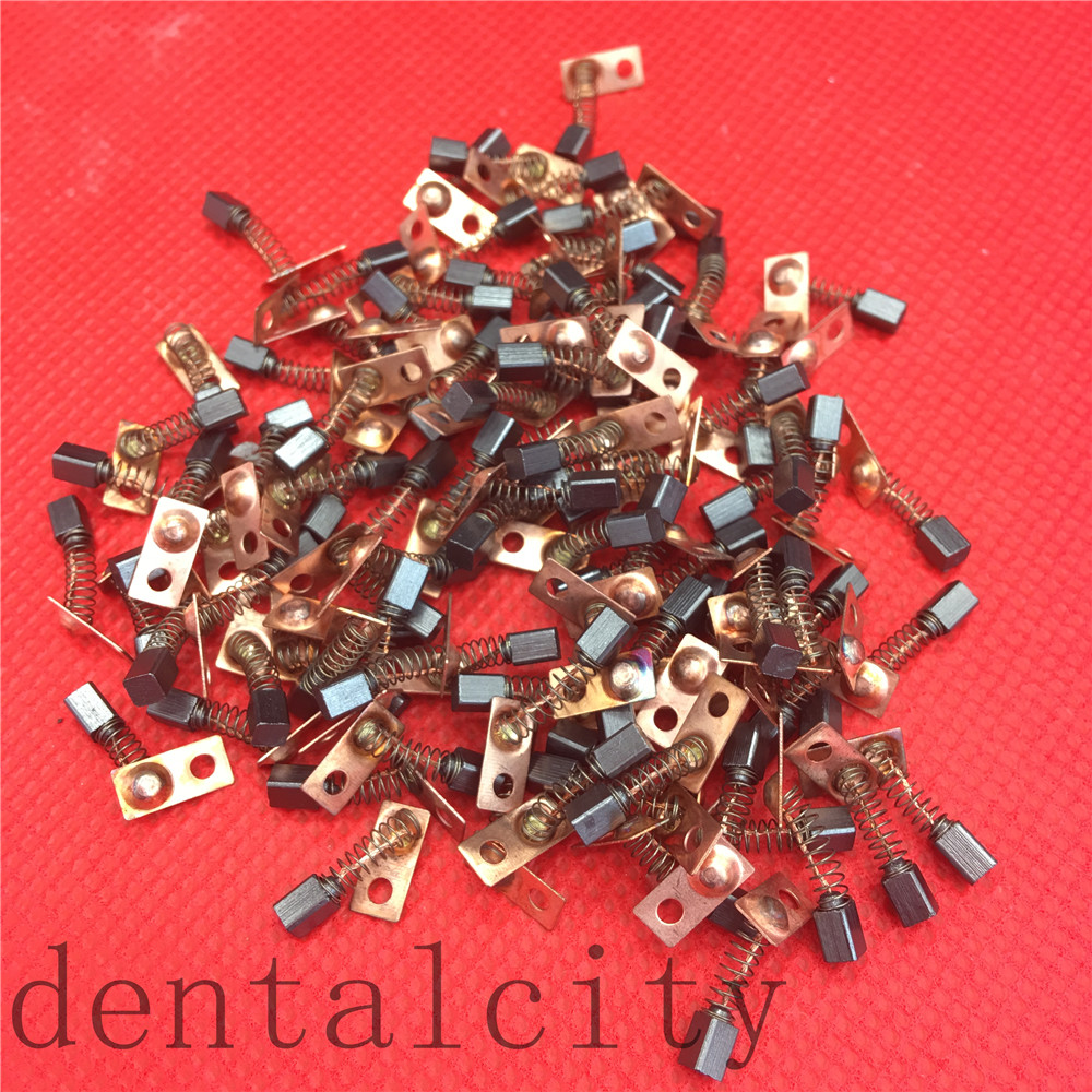 New 20pcs Electric Motor Carbon Brushes Replace For/Saeyang Series Dental Grinding Machine Micromotor Handpiece 3*3*4mm