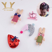 YYXUAN Character 2017 New Design Cute Animal Girls Hair Clips Cartoon Shape Hairpins Colored Swimsuits Grips In Kids Accessories