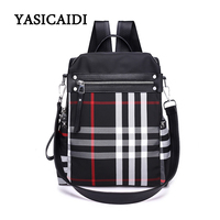 High Quality Women Backpacks Waterproof Nylon Rucksack For Teenager Girl School Bags Fashion Striped Women Backpack