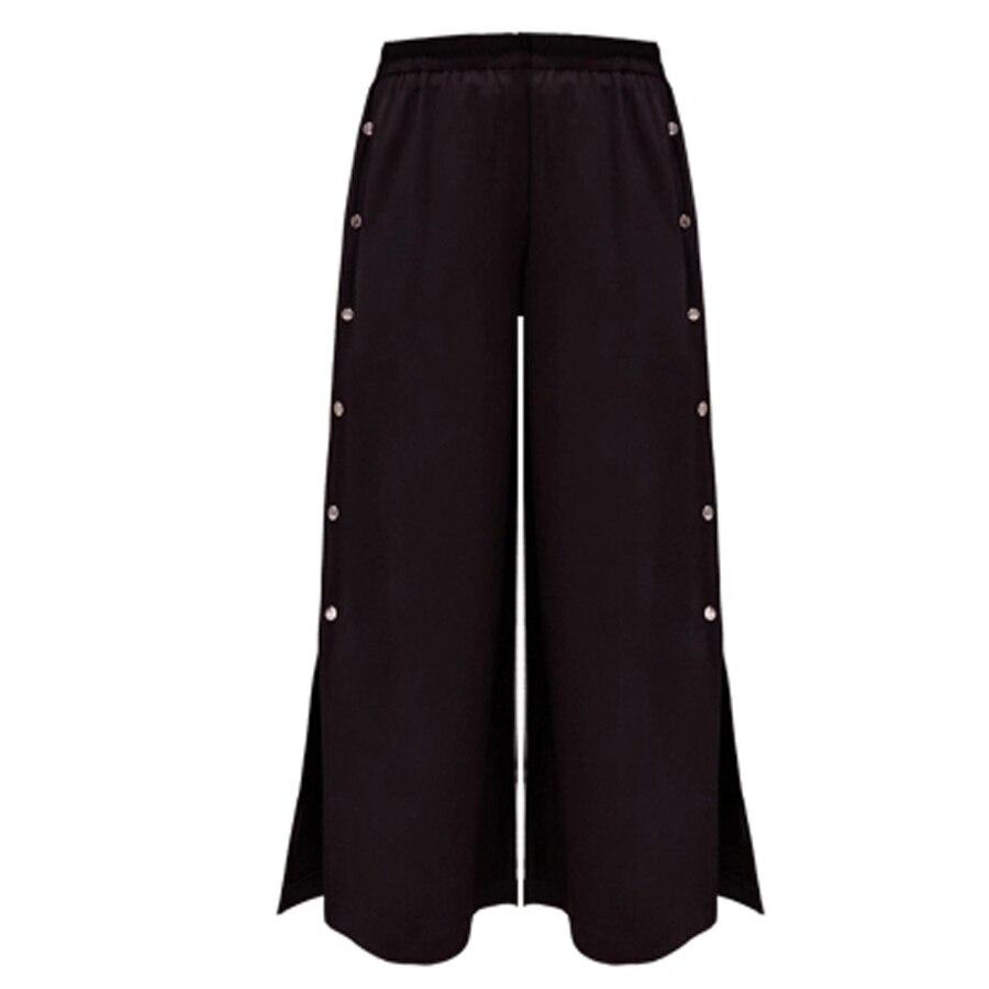 High Split Lace Wide Leg Pants Women Summer Beach High Waist Trousers Chic Streetwear Sash Casual pants Capris Female