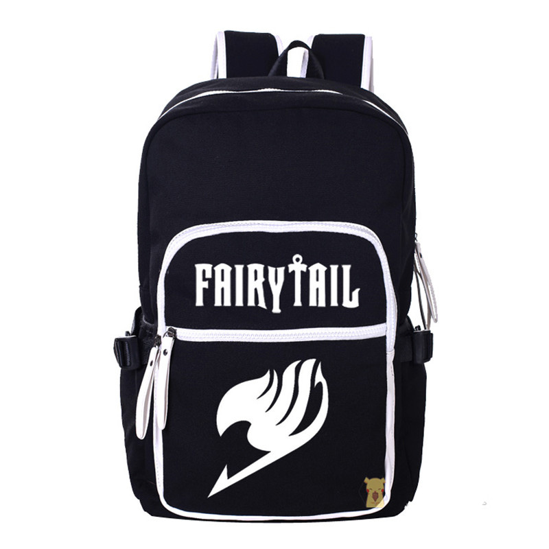 Cartoon Canvas Shoulders Bag Fairy Tail Students Teenagers School Book Laptop Bag Travel Backpack Large Capacity game of thrones backpack students school bag fire glow in light backpack book bag for teenagers cartoon shoulder bag casual bag