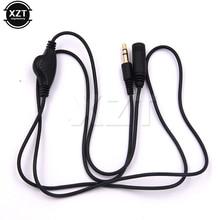 3,5 мм удлинитель для наушников кабель для наушников в линии регулятор громкости кабель штекер F 3,5 мм стерео аудио адаптер Высокое качество