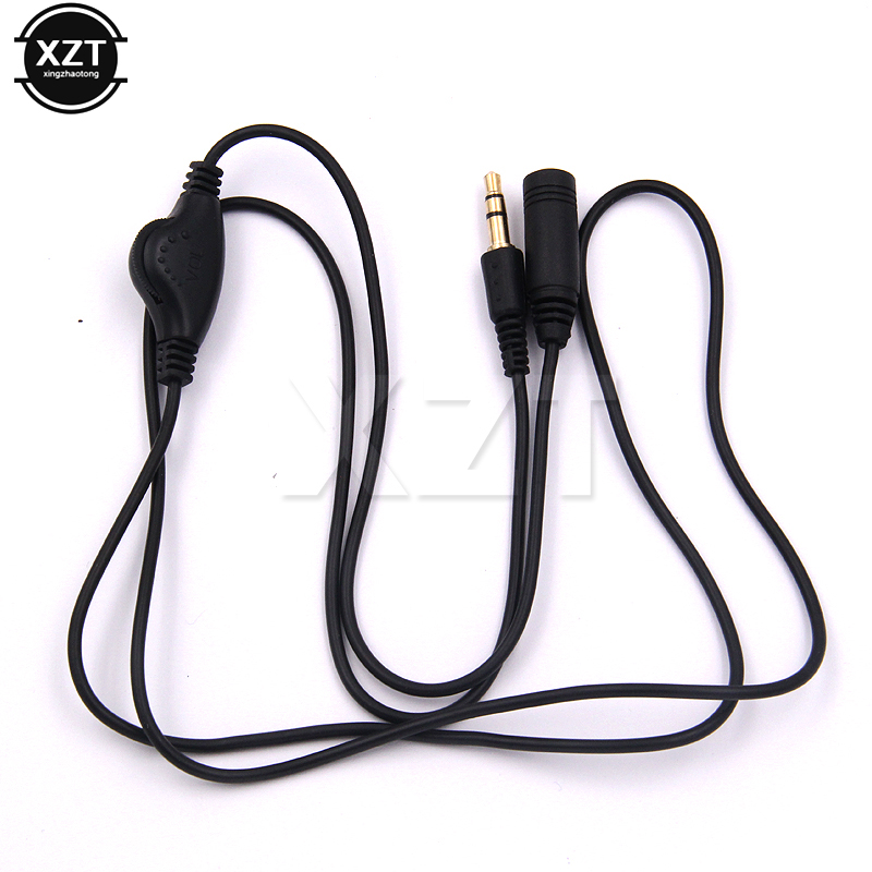 3.5mm Headphone Extension Cord Cable Earphone In Line Volume Control Cable Male To F 3.5mm Stereo Audio Adaptor High Quality