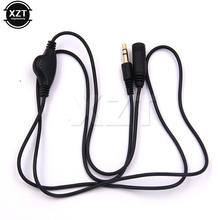3.5mm Headphone Extension Cord Cable Earphone in Line Volume