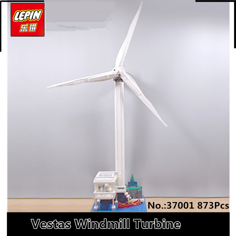 IN STOCK Lepin 37001 873PCS The Vestas Windmill Turbine Set Children Educational Building Blocks Bricks Toys Model Gifts 4999 lepin 37001 creative series the vestas windmill turbine set children educational building blocks bricks toys model for gift 4999